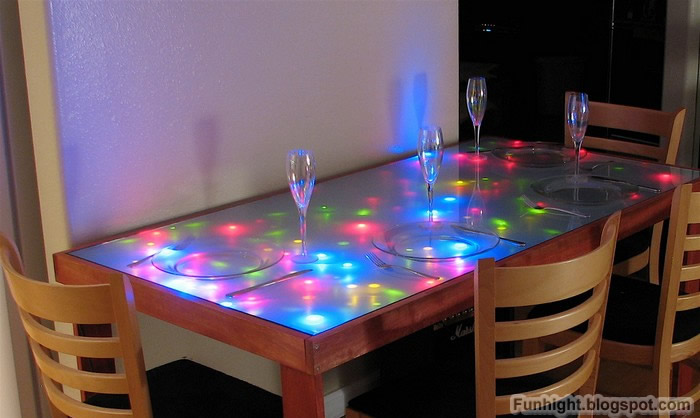 diy led table