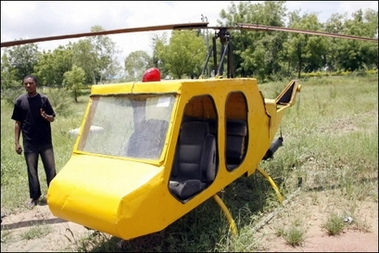homemade nigerian helicopter