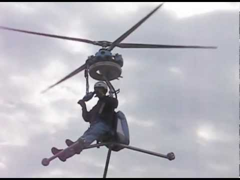 Worlds Smallest Manned Helicopter (Video)