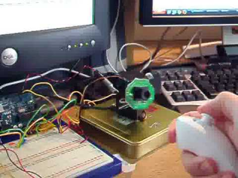 Arduino + Wii Nunchuck, Control Webcam