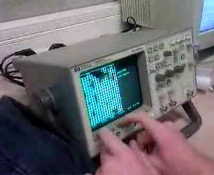 Video: Playing Tetris On A Oscilloscope
