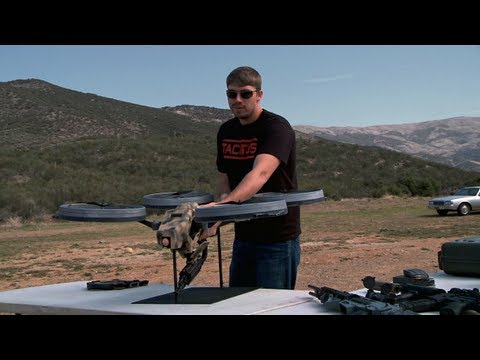 FpsRussia: Machine Gun Mounted Quadrotor Flying Prototype (Video)
