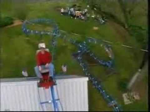 Homemade DIY Roller Coaster